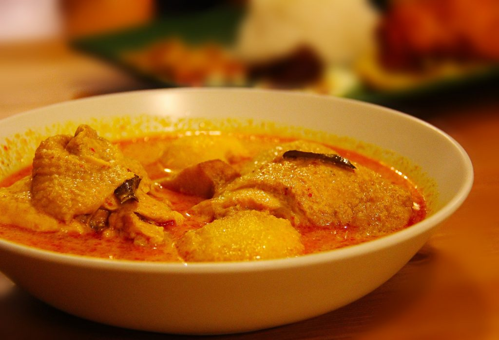 Keralan Chicken curry with potatoes in a red curry