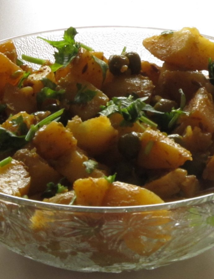 Restaurant Style Aloo Mutter