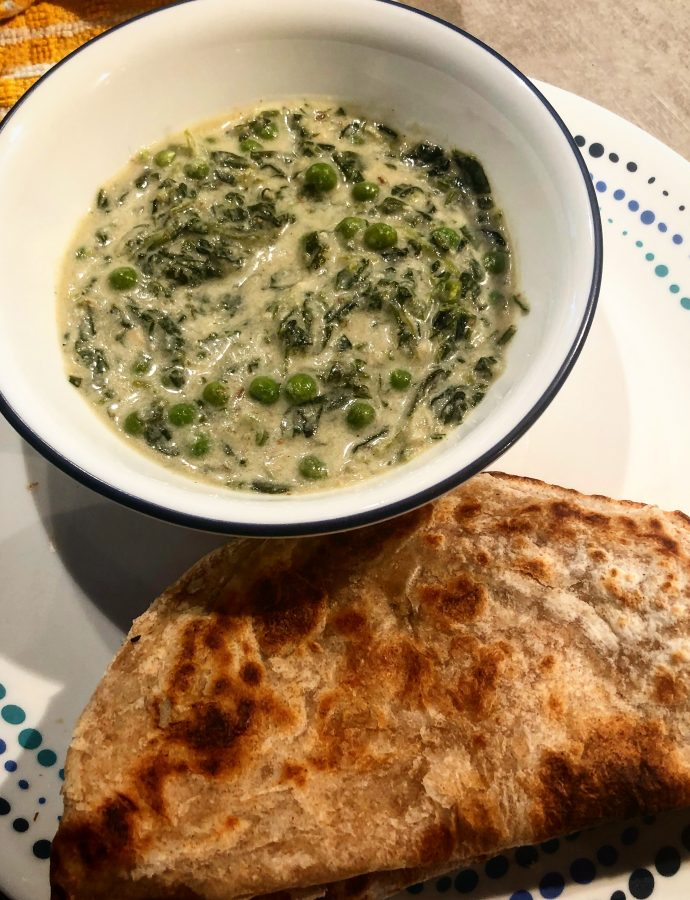 Methi Mutter Malai | Fragrant Fenugreek, Cream and Pea curry