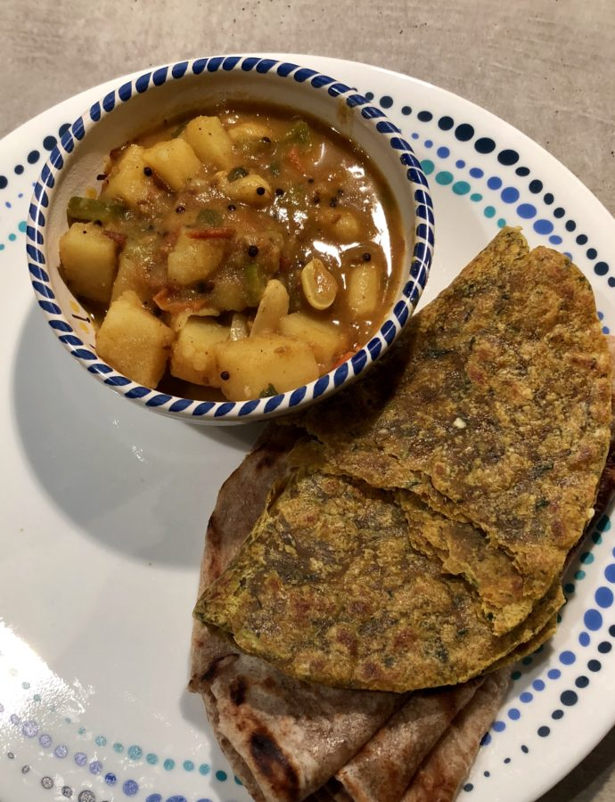 Gujarati Styled Potatoes ¦ Rasawala Bateta Nu Shak