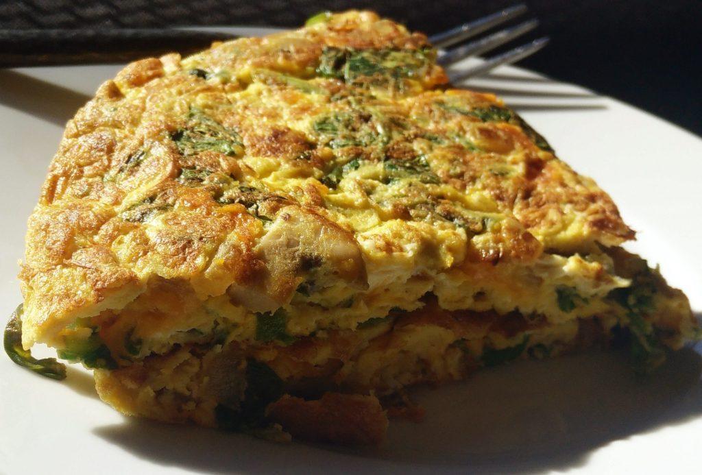 Egg masala omelette served on a plate