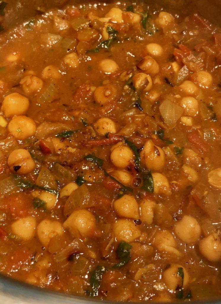 Punjabi chole a chickepas curry