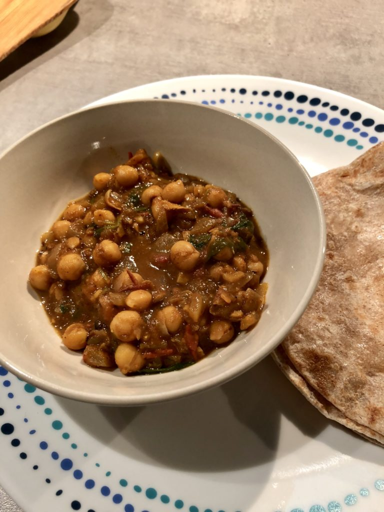 Punjabi chole a chickpeas curry
