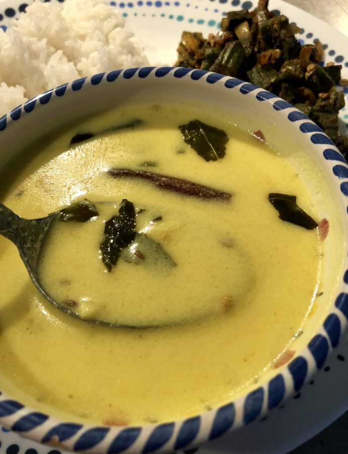 Rajasthani Kadhi – Spiced Yogurt curry with tempered garlic and chilli