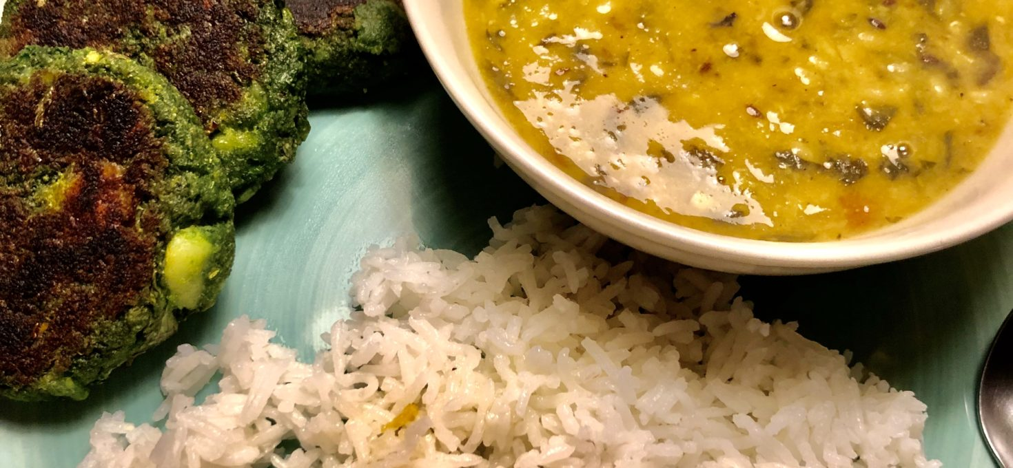 Palak Dal – Spinach and lentils curry with garlic and chilli