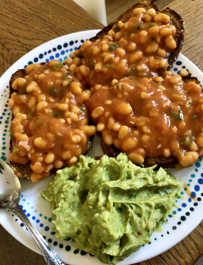 Masala Baked Beans on Toast with Smashed Zingy Avocados