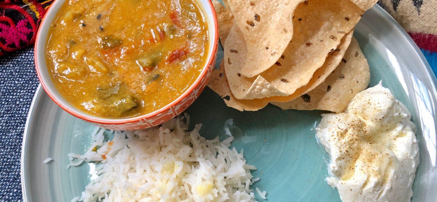 Sambar – Lentils and veggies stew | South Indian Dal