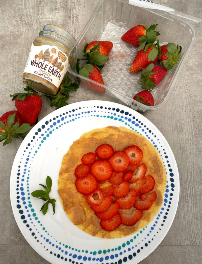 Peanut Butter Strawberry Wraps