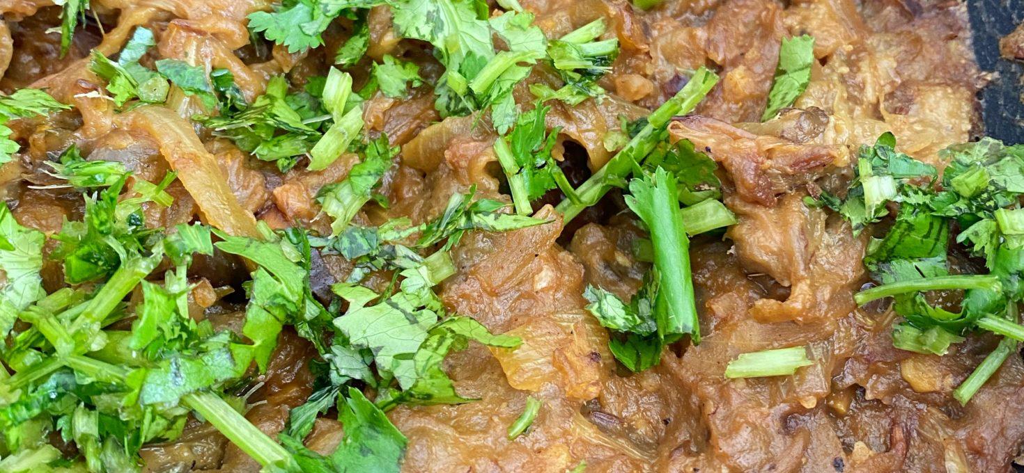 Vangyache Bhareet | Aubergine Nutty Mash