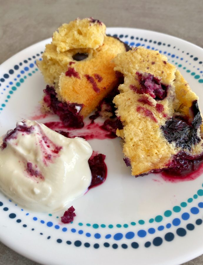 Blueberry and Coconut Cardamom Pudding