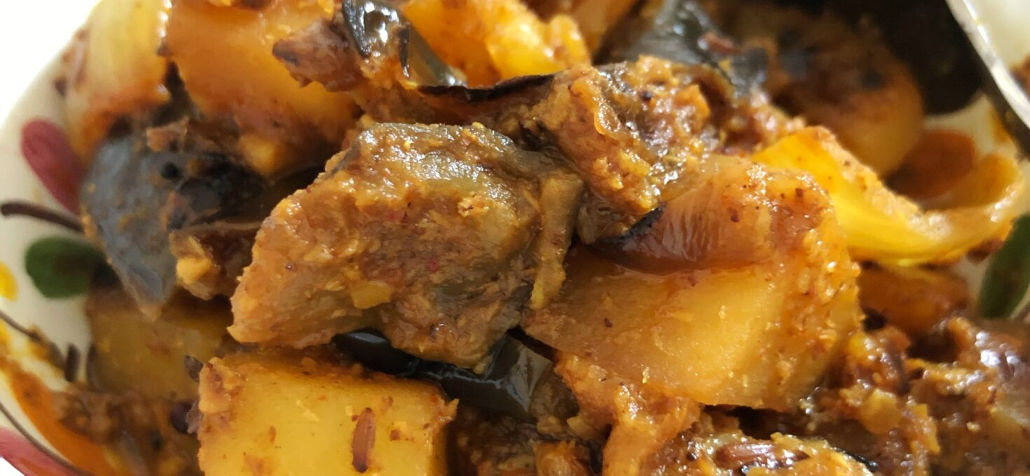 Tamarind Vegetable Roast – Aubergine, Potatoes and Peppers