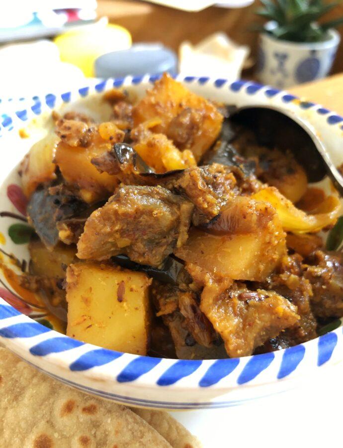 Tamarind Vegetable Roast – Aubergine, Potatoes and Peppers